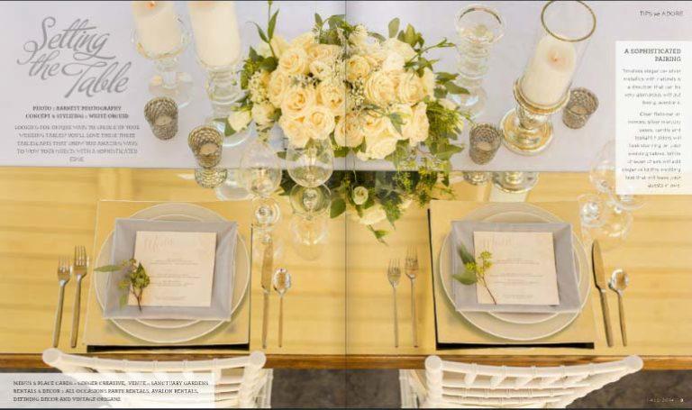 Styled Shoot for Adore Magazine | Kelowna Wedding Planner